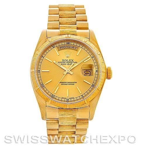 2964 Mens 18k Yellow Gold Rolex President 18078 Watch SwissWatchExpo