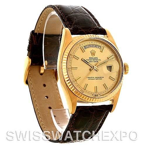 3038 Rolex President Vintage 18k Yellow Gold Watch 1803 Year 1970 - 1971 SwissWatchExpo