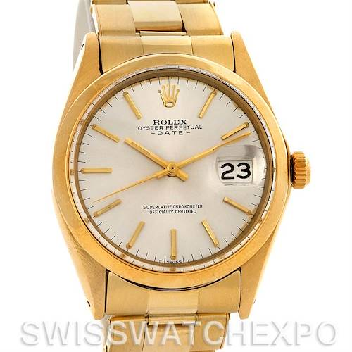 Photo of Vintage 14k Rolex Oyster Perpetual Date 1500 Circa 1966