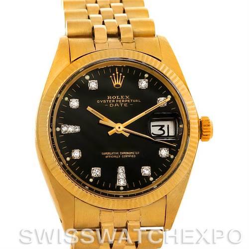 Photo of Rolex Date 1503 Mens 14k Yellow Gold Diamond Watch