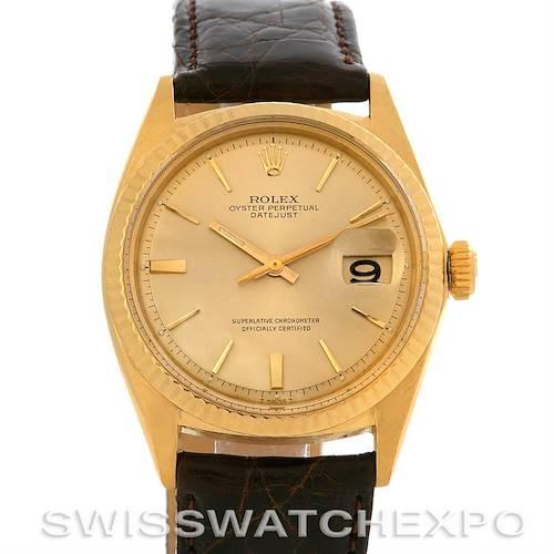Photo of Rolex  Datejust Vintage 14k Yellow Gold Watch 1601 Year 1964