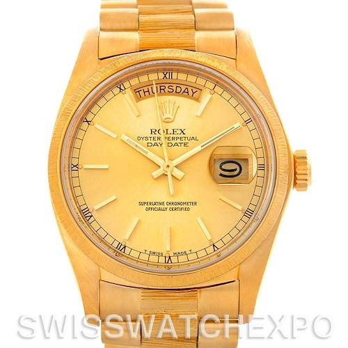 Photo of Mens 18k Yellow Gold Rolex President 18078 Watch