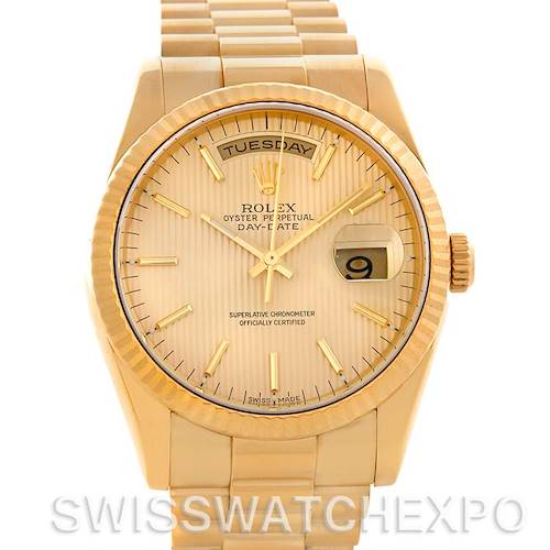 Photo of Rolex President Day Date Mens 18k Yellow Gold Watch 118238