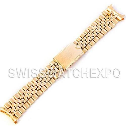 4546b Vintage Rolex 14k Yellow Gold Jubilee Bracelet 19mm Swisswatchexpo