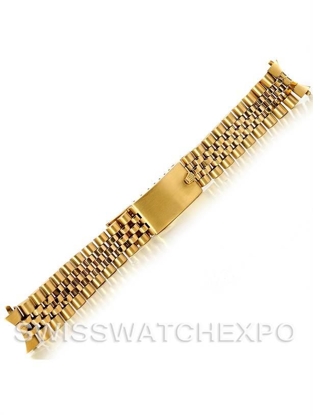 4338b Vintage Rolex Jubilee Bracelet 14k Yellow Gold 19mm Swisswatchexpo