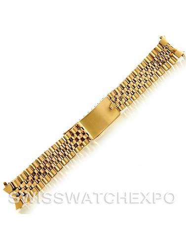 Photo of Vintage Rolex Jubilee Bracelet 14k Yellow Gold 19mm