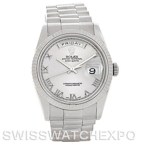 5280 Rolex President 118239 Mens 18k White Gold Watch SwissWatchExpo