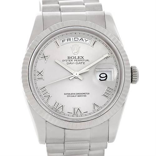 Photo of Rolex President 118239 Mens 18k White Gold Watch