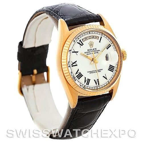 5404 Rolex President Vintage 18k Yellow Gold Watch Buckley Dial 1803 SwissWatchExpo