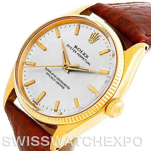 5502 Rolex Vintage Men's 14K Yellow Gold Watch 1005 SwissWatchExpo