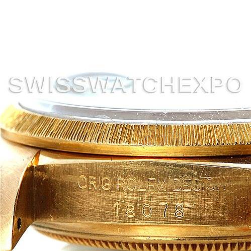 5477 Mens 18k Yellow Gold Rolex President 18078 Watch SwissWatchExpo