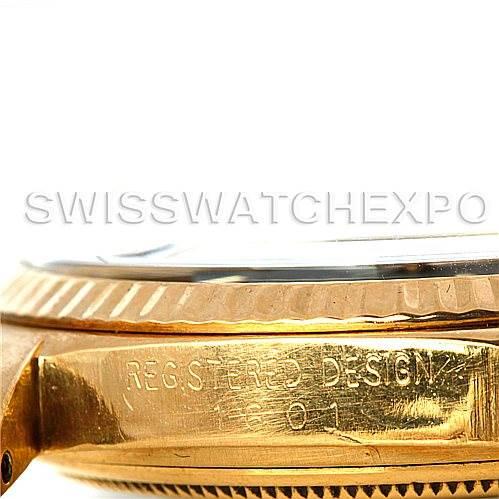 5881 Rolex Datejust Mens 18K Yellow Gold Vintage Watch 1601 SwissWatchExpo