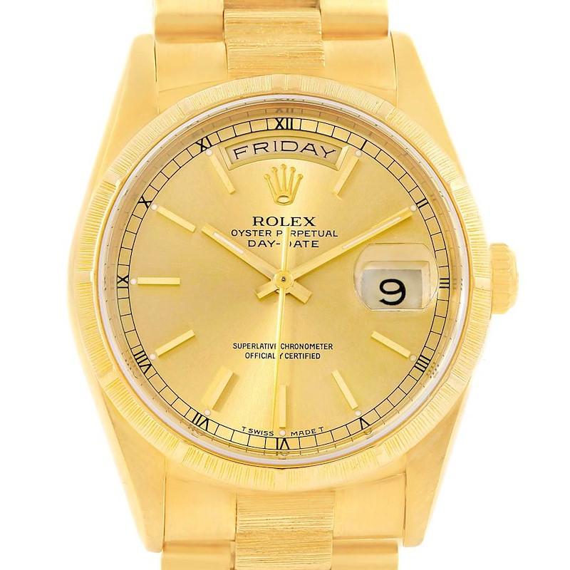 Rolex Day-Date President 18k Yellow Gold Mens Watch 18248 SwissWatchExpo