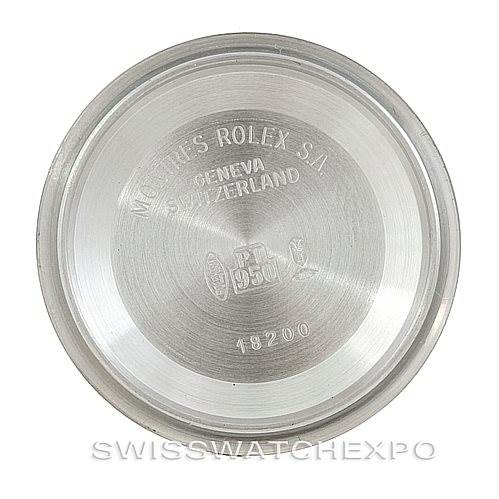6377P Rolex President Platinum Diamond Watch 18206 SwissWatchExpo