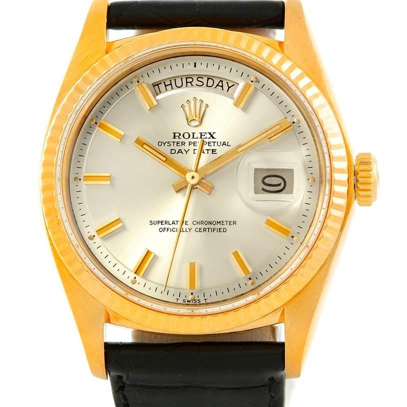 Rolex President Vintage 18k Yellow Gold Watch Fat Boy 1803
