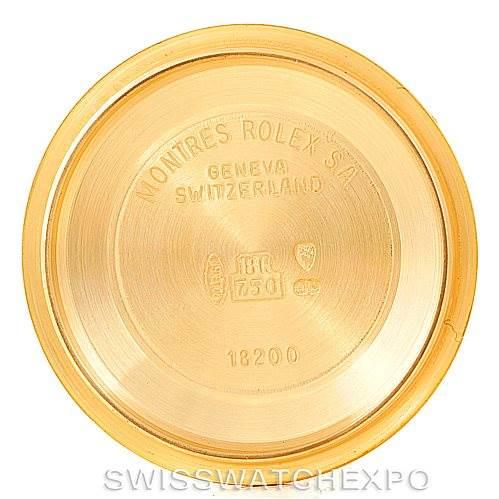 7083 Rolex President Mens 18k Yellow Gold Watch 18238 SwissWatchExpo