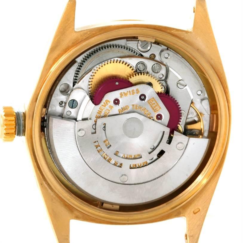 rolex datejust vintage mens 18k yellow gold 1601