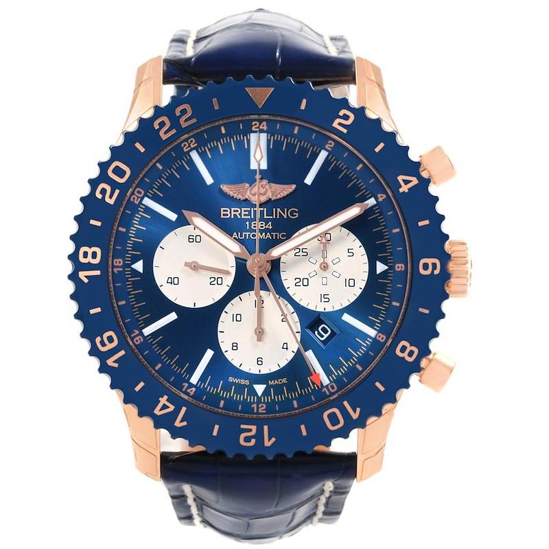 Breitling Chronoliner B04 Rose Gold LE Watch RB046116 Unworn SwissWatchExpo