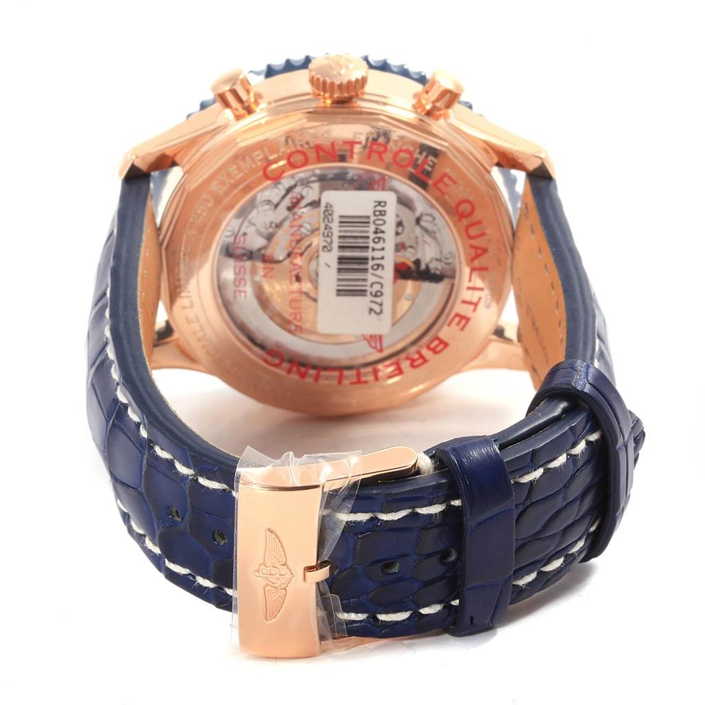 18255 Breitling Chronoliner B04 Rose Gold LE Watch RB046116 Unworn SwissWatchExpo