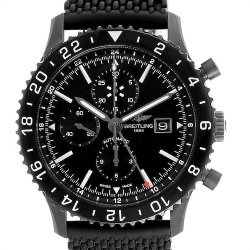 Photo of Breitling Chronoliner Blacksteel GMT Chrono Mens Watch M73390 Box Papers