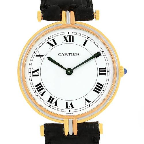 Photo of Cartier Vendome Trinity 18K Yellow White Rose Gold Unisex Watch
