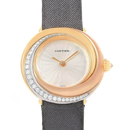 Photo of Cartier Trinity White Yellow Rose Gold Diamond Ladies Watch WG200151