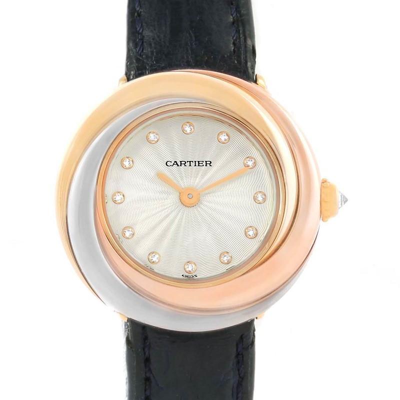 Cartier Trinity 18K White Yellow Rose Gold Diamond Ladies Watch W200246 SwissWatchExpo