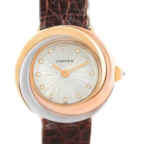 Photo of Cartier Trinity Tricolor White Yellow Rose Gold Diamond Ladies Watch W200246