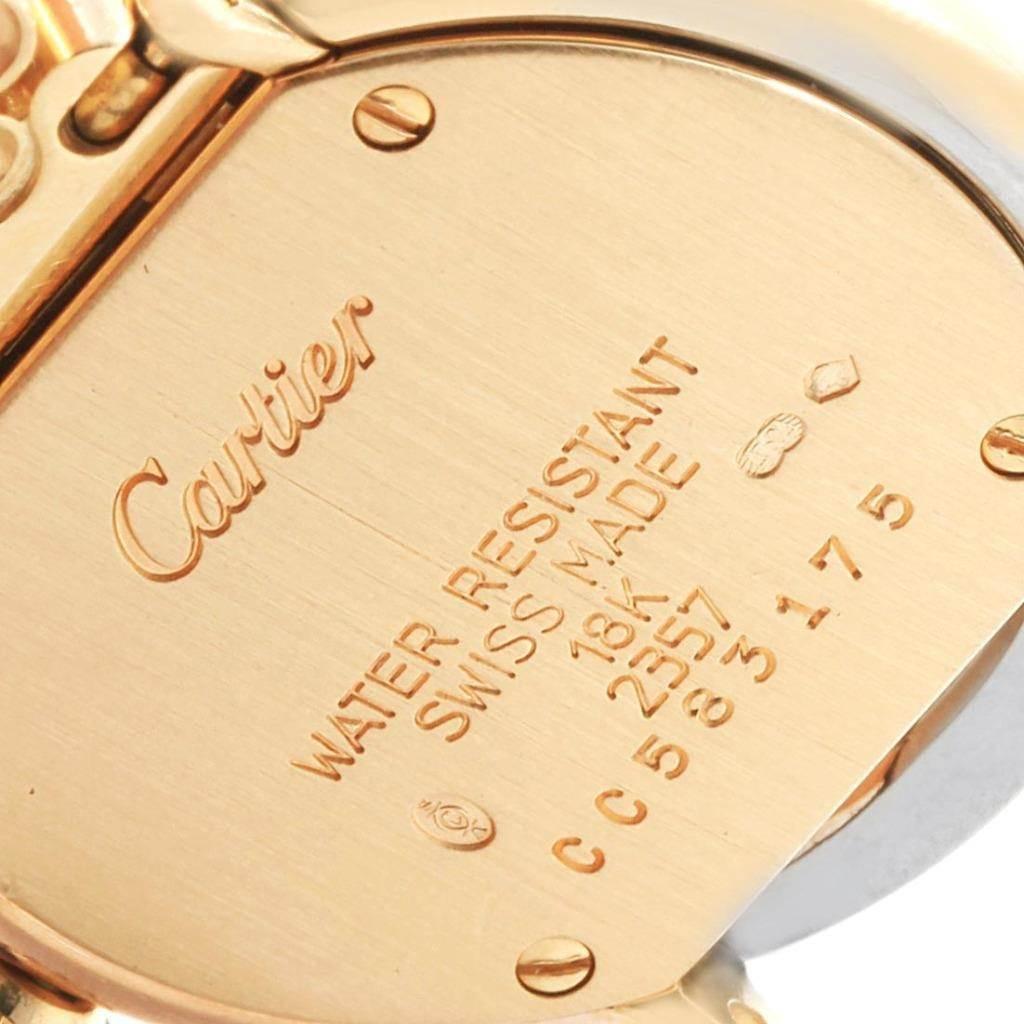 Cartier Trinity White Yellow Rose Gold Diamond Ladies Watch WG200258 SwissWatchExpo