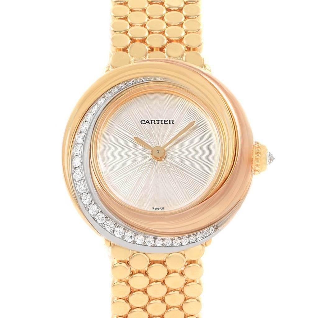 19213 Cartier Trinity White Yellow Rose Gold Diamond Ladies Watch WG200258 SwissWatchExpo