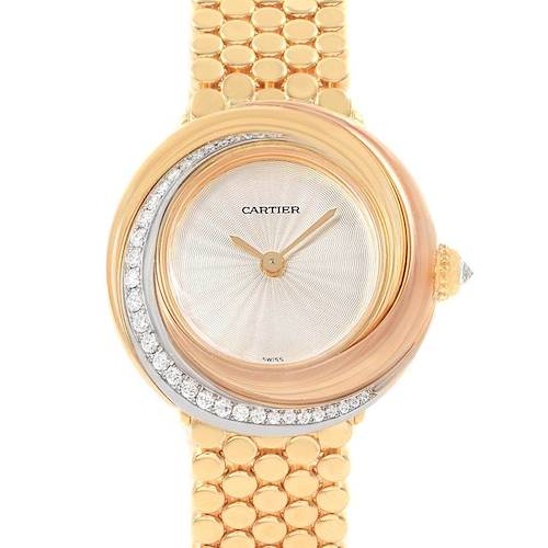 Photo of Cartier Trinity White Yellow Rose Gold Diamond Ladies Watch WG200258