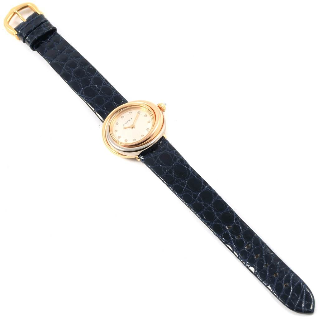 18235 Cartier Trinity White Yellow Rose Gold Diamond Ladies Watch W200246 SwissWatchExpo