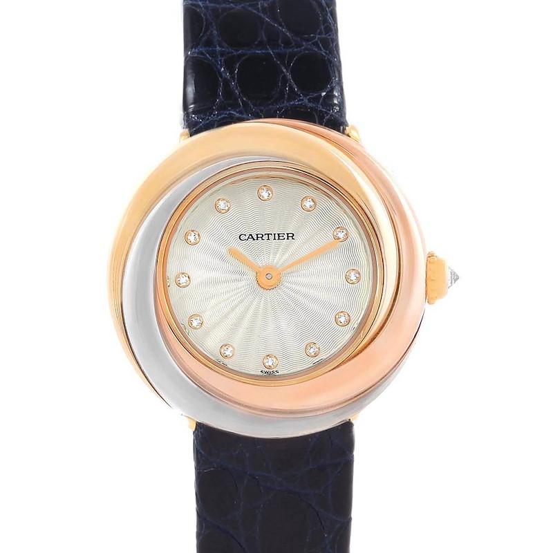 Cartier Trinity White Yellow Rose Gold Diamond Ladies Watch W200246 SwissWatchExpo