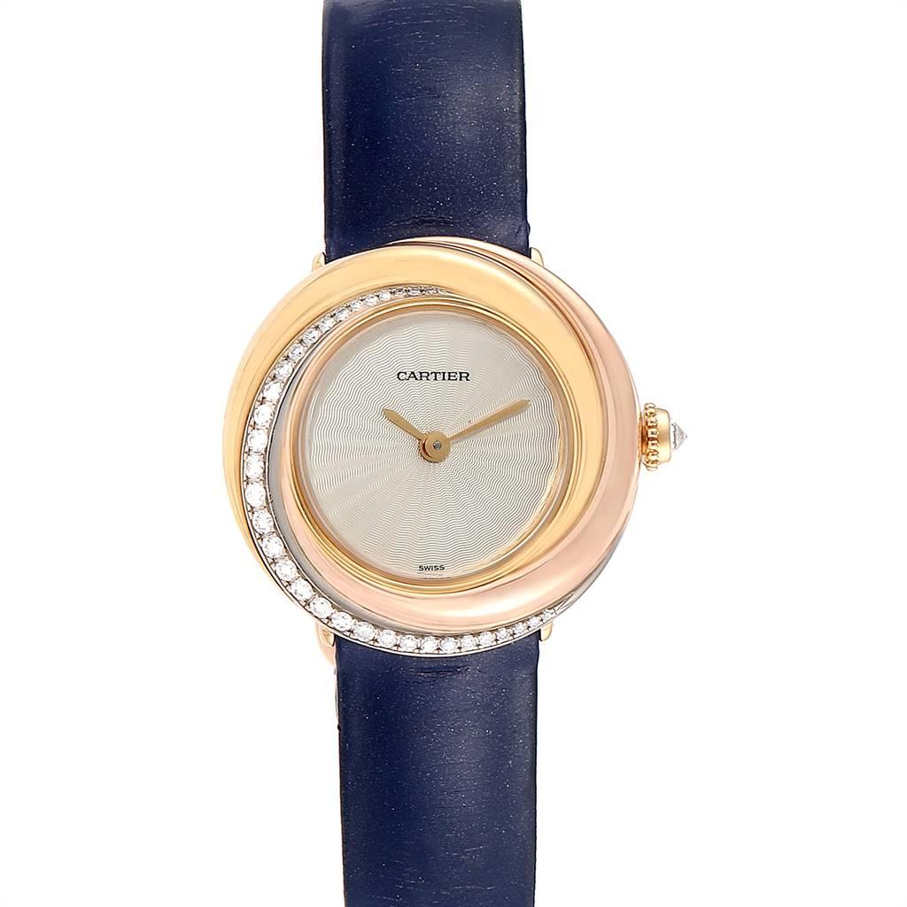 Cartier Trinity White Yellow Rose Gold Diamond Ladies Watch WG200151