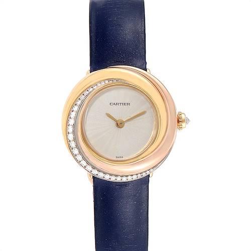 Photo of Cartier Trinity White Yellow Rose Gold Diamond Ladies Watch WG200151