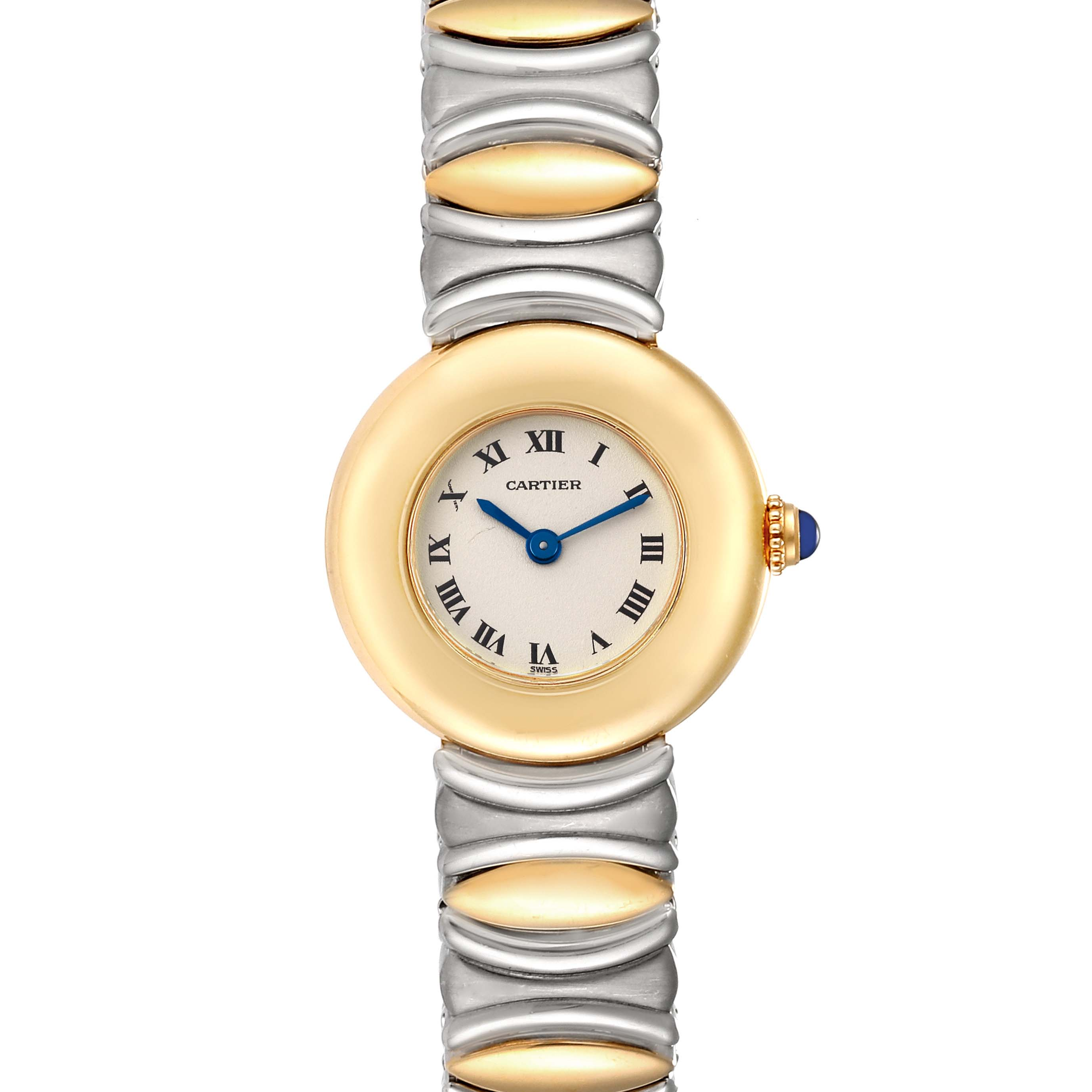 Cartier Colisee Casque dOr Steel 18k Yellow Gold Ladies Watch 1335