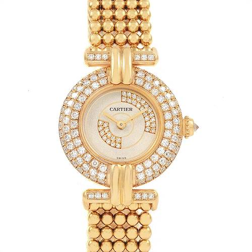 Photo of Cartier Colisee 18K Yellow Gold Diamond Limited Edition Ladies Watch 1980