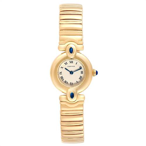 Photo of Cartier Colisee VLC 18K Yellow Gold Sapphires Ladies Watch