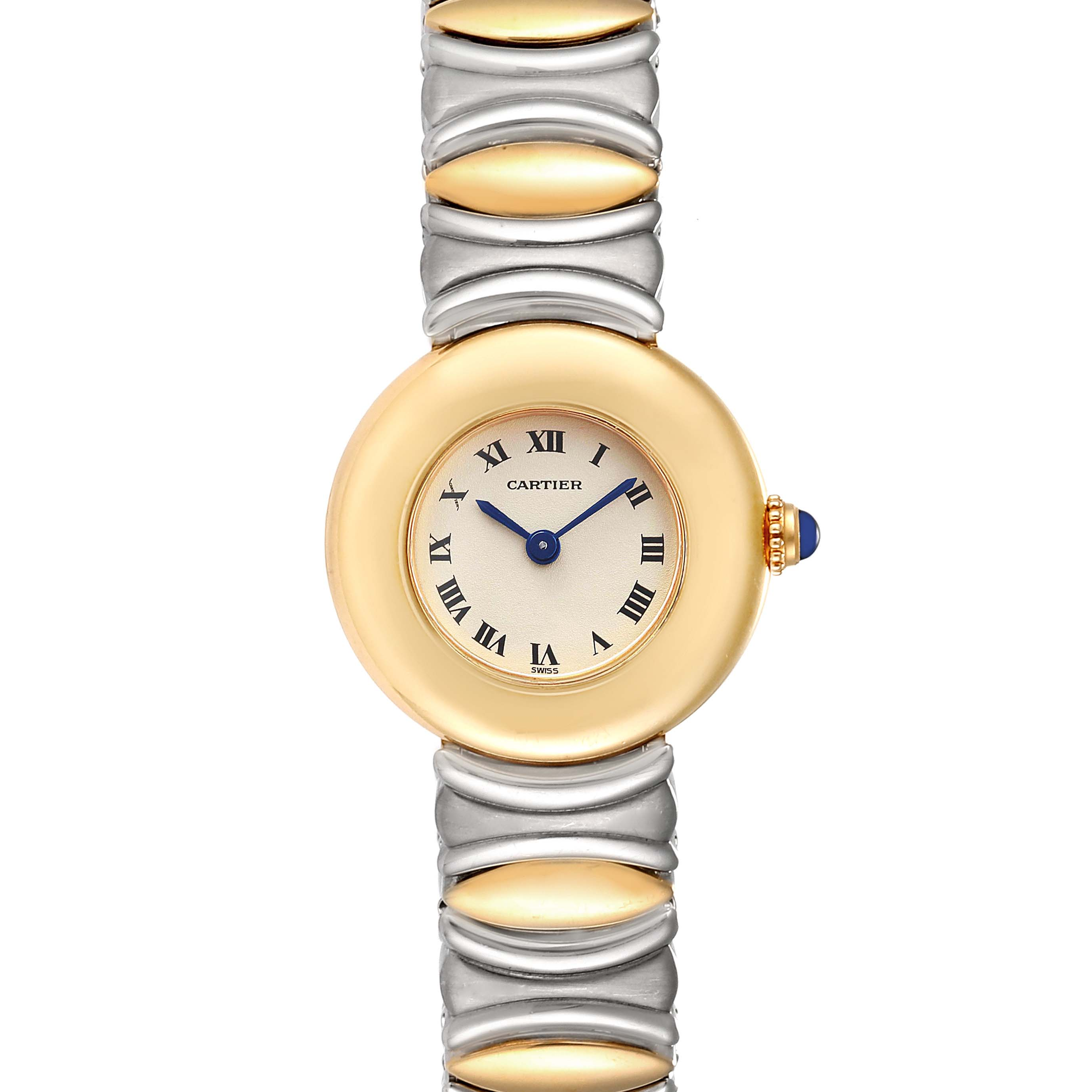 Cartier Colisee Casque d'Or Ladies Stainless Steel 18k Yellow Gold Watch