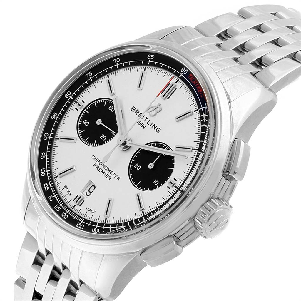 Breitling Premier B01 Chronograph 42 Steel Mens Watch AB0118 Box Papers SwissWatchExpo
