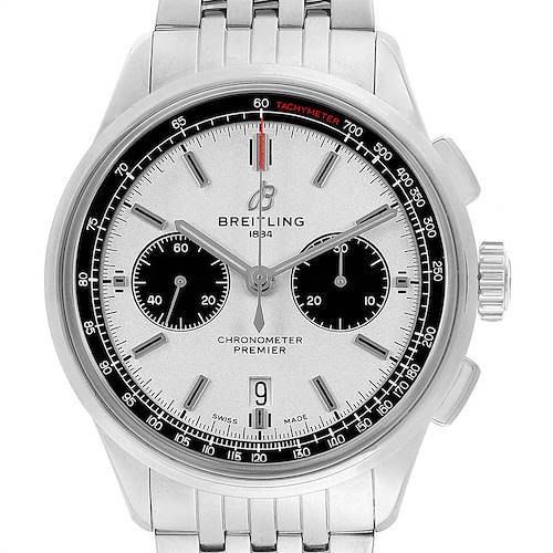 Photo of Breitling Premier B01 Chronograph 42 Steel Mens Watch AB0118 Box Papers