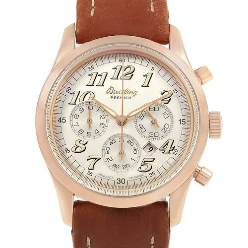 Photo of Breitling Navitimer Premier Rose Gold Special Edition Mens Watch H42035