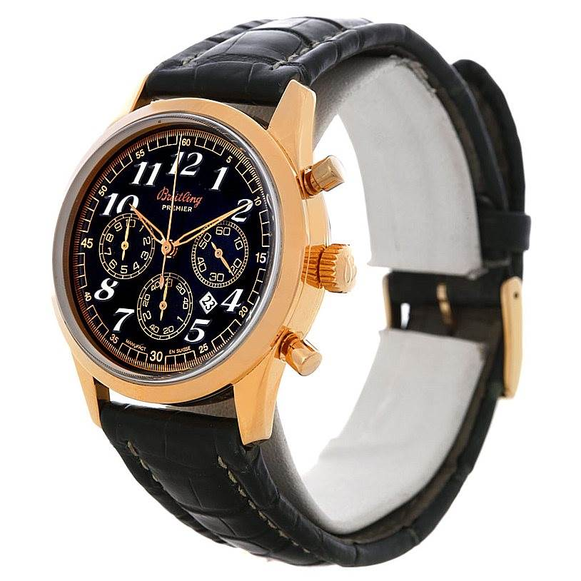 Breitling Navitimer Premier 18K Rose Gold Watch H42035 SwissWatchExpo