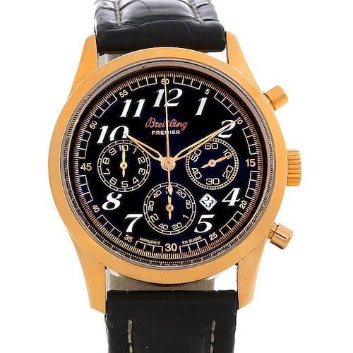 Photo of Breitling Navitimer Premier 18K Rose Gold Watch H42035