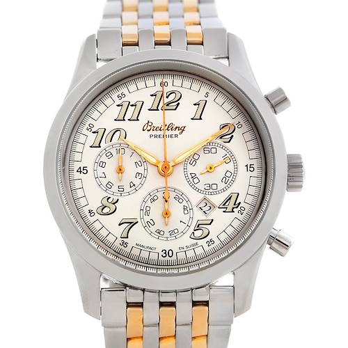 Photo of Breitling Navitimer Premier Steel 18K Yellow Gold Watch A42035