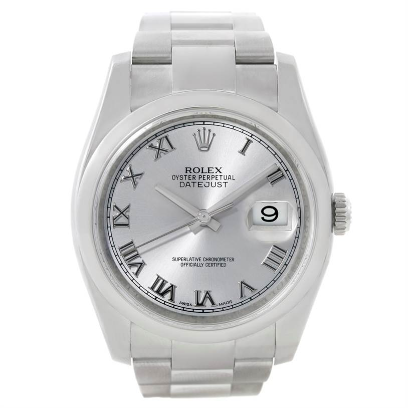 8798 Rolex Datejust Mens Stainless Steel Silver Dial Watch 116200 SwissWatchExpo