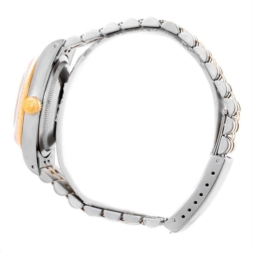 Rolex Datejust Two Tone Champagne Diamond Dial Watch 16233 SwissWatchExpo