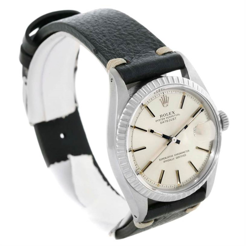 Rolex Datejust Vintage Stainless Steel Mens Watch 1603 Box Papers SwissWatchExpo