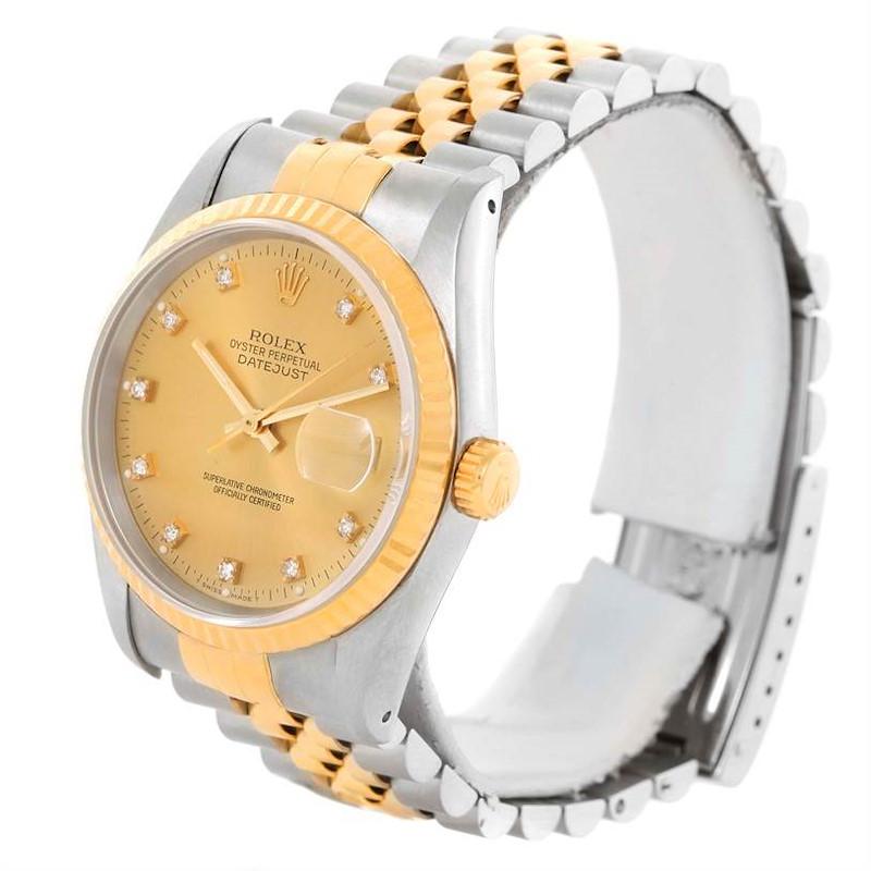 Rolex Datejust Two Tone Diamond Dial Automatic Watch 16233 SwissWatchExpo