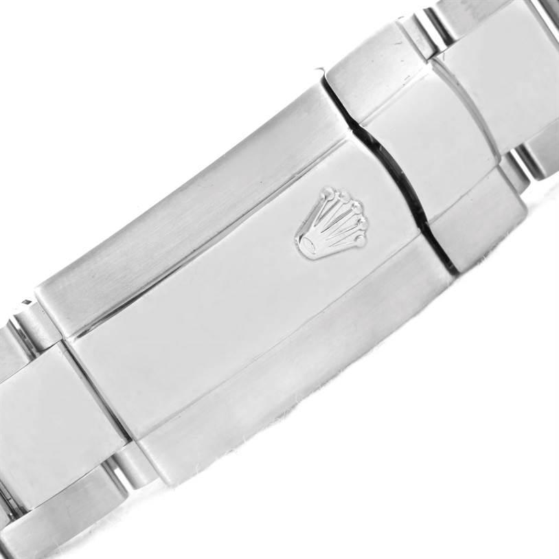 10967 Rolex Datejust Steel White Gold Silver Black Tuxedo Dial Watch 116234 SwissWatchExpo